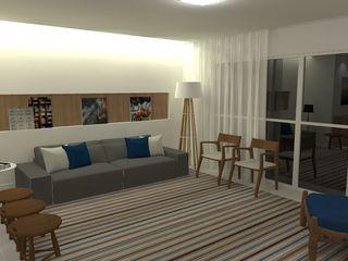 Carolina Mendonça Projetos de Arquitetura e Interiores LTDA Living room
