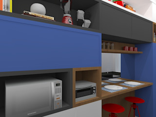 Carolina Mendonça Projetos de Arquitetura e Interiores LTDA Modern style kitchen Blue