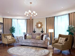 ЙОХ architects Ruang Keluarga Klasik