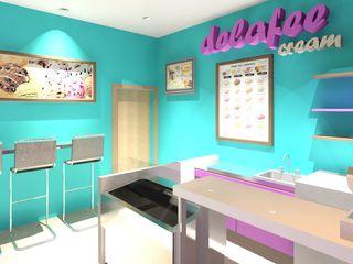 Diseño Heladería Diseño Store Tiendas y espacios comerciales Multicolor