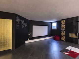 Taverna Home Theatre Elia Falaschi Fotografo Sala multimediale moderna
