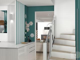 Rénovation d'une maison individuelle - Mornant Camille BASSE, Architecte d'intérieur Couloir, entrée, escaliers modernes