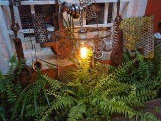 Lampara Colgante Jaula Malla Tejida Lamparas Vintage Vieja Eddie JardinesDecoración y accesorios Hierro/Acero Multicolor