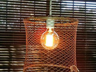Lampara Colgante Jaula Malla Tejida Lamparas Vintage Vieja Eddie LivingsIluminación Hierro/Acero Multicolor