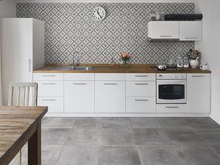 Gres Porcellanato effetto cemento ItalianGres Soggiorno in stile industriale