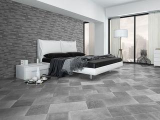 Gres Porcellanato effetto cemento ItalianGres Camera da letto in stile industriale
