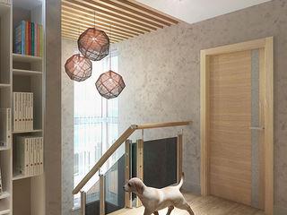Your royal design Pasillos, vestíbulos y escaleras de estilo minimalista Gris