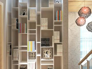 Your royal design Pasillos, vestíbulos y escaleras de estilo minimalista Blanco