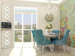 Vera Rybchenko 地中海デザインの キッチン ターコイズ