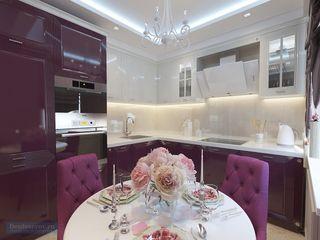 Студия интерьера Дениса Серова Cocinas de estilo moderno Morado/Violeta