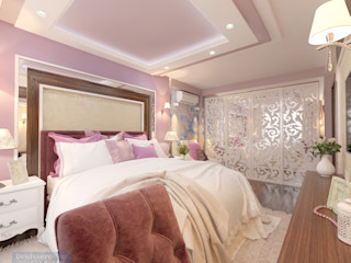Студия интерьера Дениса Серова Dormitorios de estilo clásico Morado/Violeta
