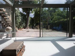 Walk On Roof Glass Extension Trombe Ltd Вітальня