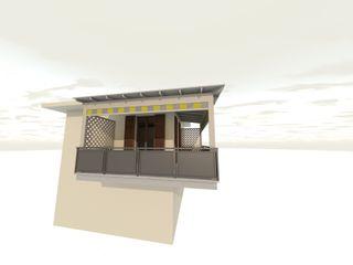 Schermatura solare di Terrazza ad angolo Svitavvita Snc Balcone, Veranda & Terrazza in stile mediterraneo Legno