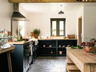 The Leicestershire Kitchen in the Woods by deVOL deVOL Kitchens Dapur Gaya Country Blue