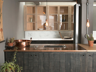 The London Basement Kitchen by deVOL deVOL Kitchens Кухня Синій