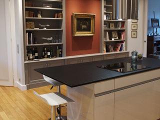 Appartement Classique Contemporain Paris Neuilly Philippe Ponceblanc Architecte d'intérieur Cuisine classique