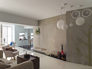 禾光室內裝修設計 ─ Her Guang Design Living room Concrete