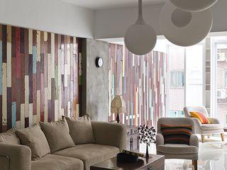 禾光室內裝修設計 ─ Her Guang Design Living room Solid Wood