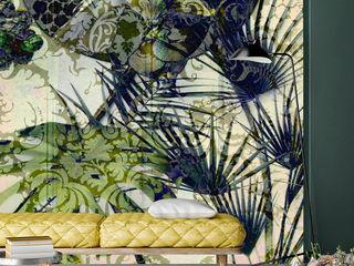 Secret Garden Wallpaper Collection by La Aurelia Art & Walls La Aurelia Wände & BodenTapeten Grün