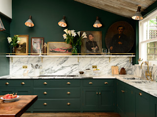 The Peckham Rye Kitchen by deVOL deVOL Kitchens Кухня Дерево Зелений