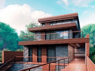 FLYING house BOOS architects Дома в стиле минимализм Кирпичи