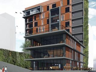 Veredas Arquitetura Industrial style office buildings Bricks