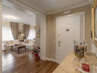 Facile Ristrutturare 經典風格的走廊,走廊和樓梯