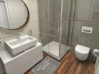 Pracownia Projektowa MOJE Scandinavian style bathrooms