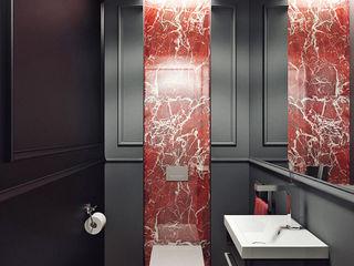 CRAZY >:-) KAPRANDESIGN Ванная комната в эклектичном стиле Камень Черный