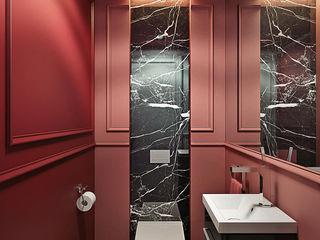 CRAZY >:-) KAPRANDESIGN Ванная комната в эклектичном стиле Камень Красный
