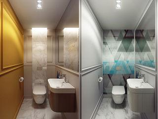 CRAZY >:-) KAPRANDESIGN Ванная комната в эклектичном стиле Мрамор Желтый