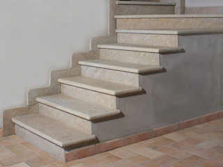 Arte Pietra Couloir, entrée, escaliers classiques Pierre Multicolore