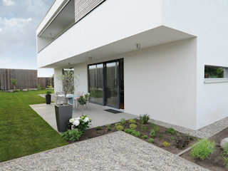GRIMM ARCHITEKTEN BDA Rumah Modern Kayu White