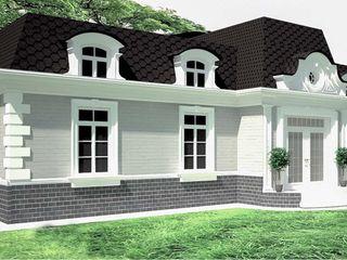 APRIL DESIGN クラシカルな 家 レンガ 灰色
