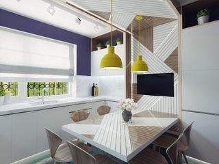 Ksenia Konovalova Design Cocinas de estilo moderno Madera Blanco