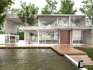 CN y Arquitectos Modern houses Concrete White