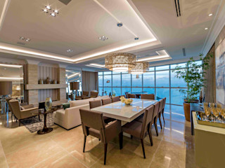 TRÍADE ARQUITETURA Classic style dining room Marble Beige