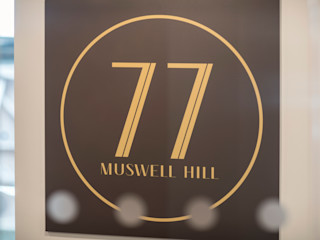 Musewll Hill, London Jigsaw Interior Architecture Eclectic style houses Stone Amber/Gold