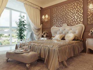 القصر للدهانات والديكور Classic style bedroom Beige