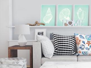 K&L Wall Art SalonesAccesorios y decoración Sintético Turquesa