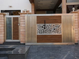 RAVI - NUPUR ARCHITECTS Casas de estilo moderno Aluminio/Cinc