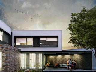 Estudio Meraki Modern balcony, veranda & terrace White