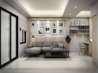 The guidelines design studio Interior landscaping Kayu Buatan Wood effect