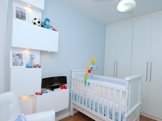 Milla Holtz & Bruno Sgrillo Arquitetura 嬰兒房/兒童房 Blue