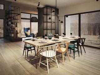 razoo-architekci Phòng ăn phong cách chiết trung
