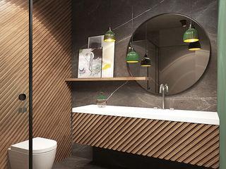 razoo-architekci Phòng tắm phong cách chiết trung