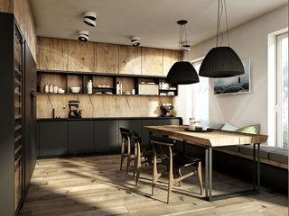 razoo-architekci Nhà bếp phong cách chiết trung