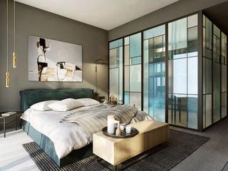 razoo-architekci Phòng ngủ phong cách chiết trung