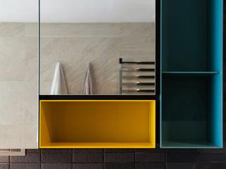 arctitudesign Minimalist style bathrooms Metal Orange