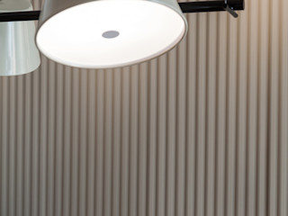 arctitudesign Minimalist dining room Plywood Grey
